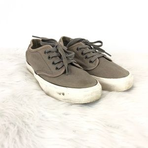 Levi's Taupe Lace-up Canvas Sneakers